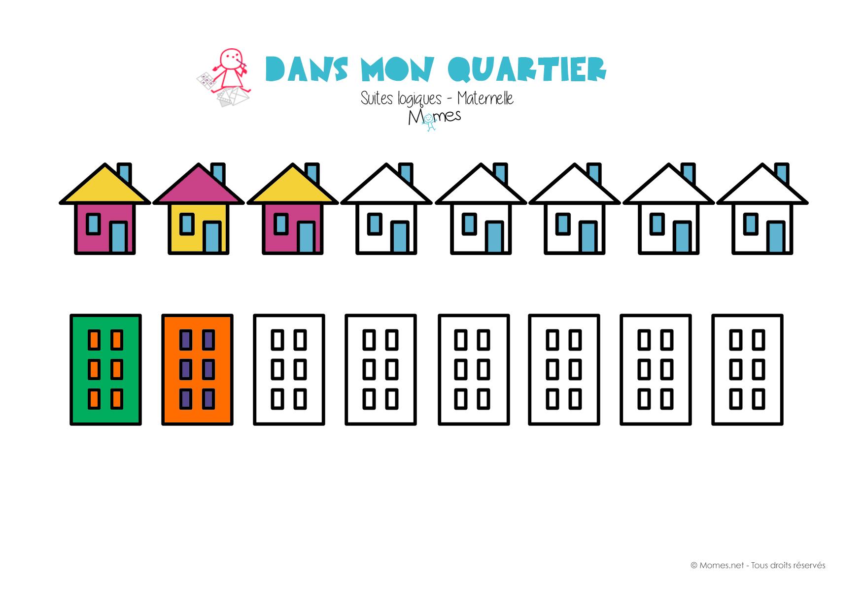 Decoration Maternelle Noel : Suite logique les maisons momes