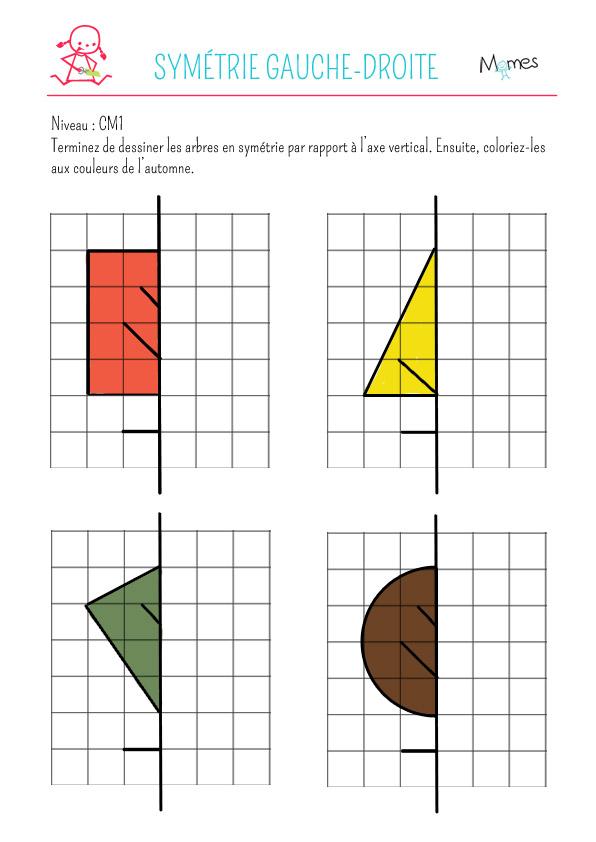 Sym trie gauche droite exercice - Symetrie a imprimer ...
