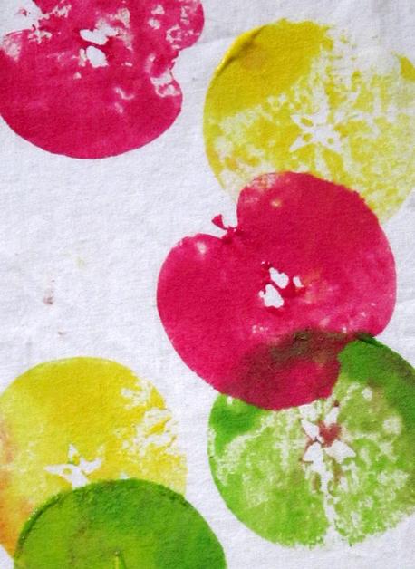 Tableau Empreinte Pommes
