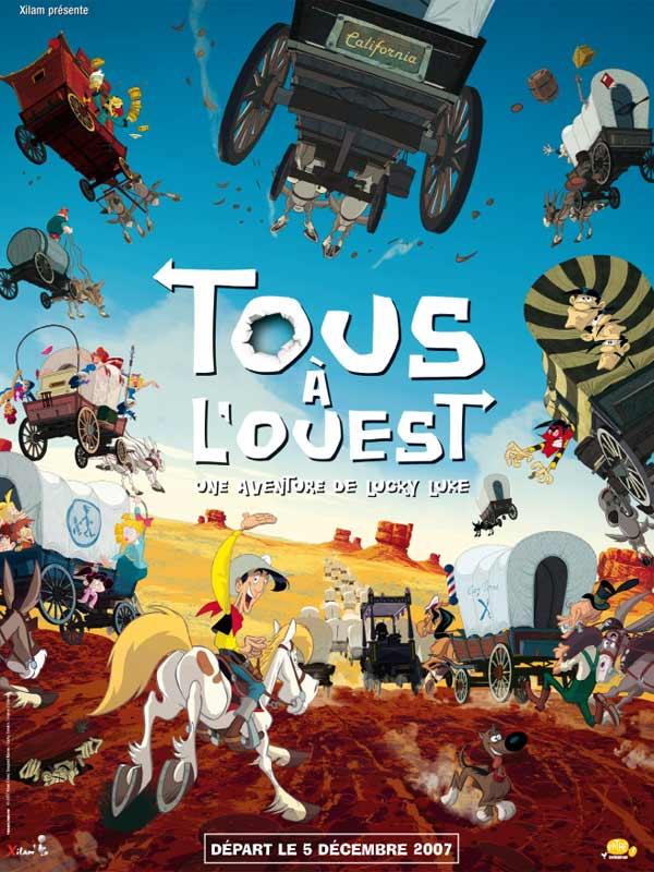 Affiche Tous à l'Ouest une Aventure de Lucky Luke