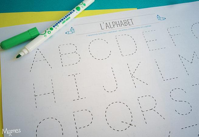 alphabet en pointillés