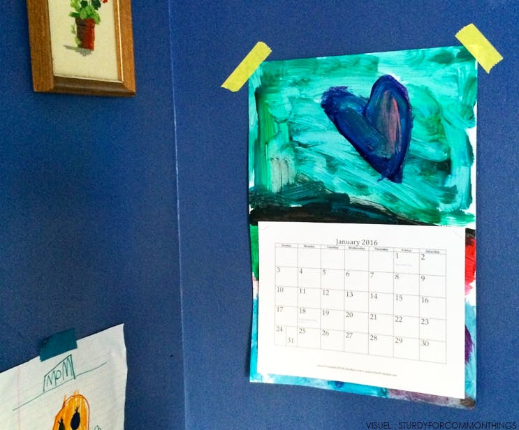 Un calendrier de dessins d'enfants