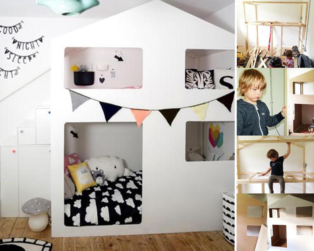 séparation chambre 2 enfants lit cabane