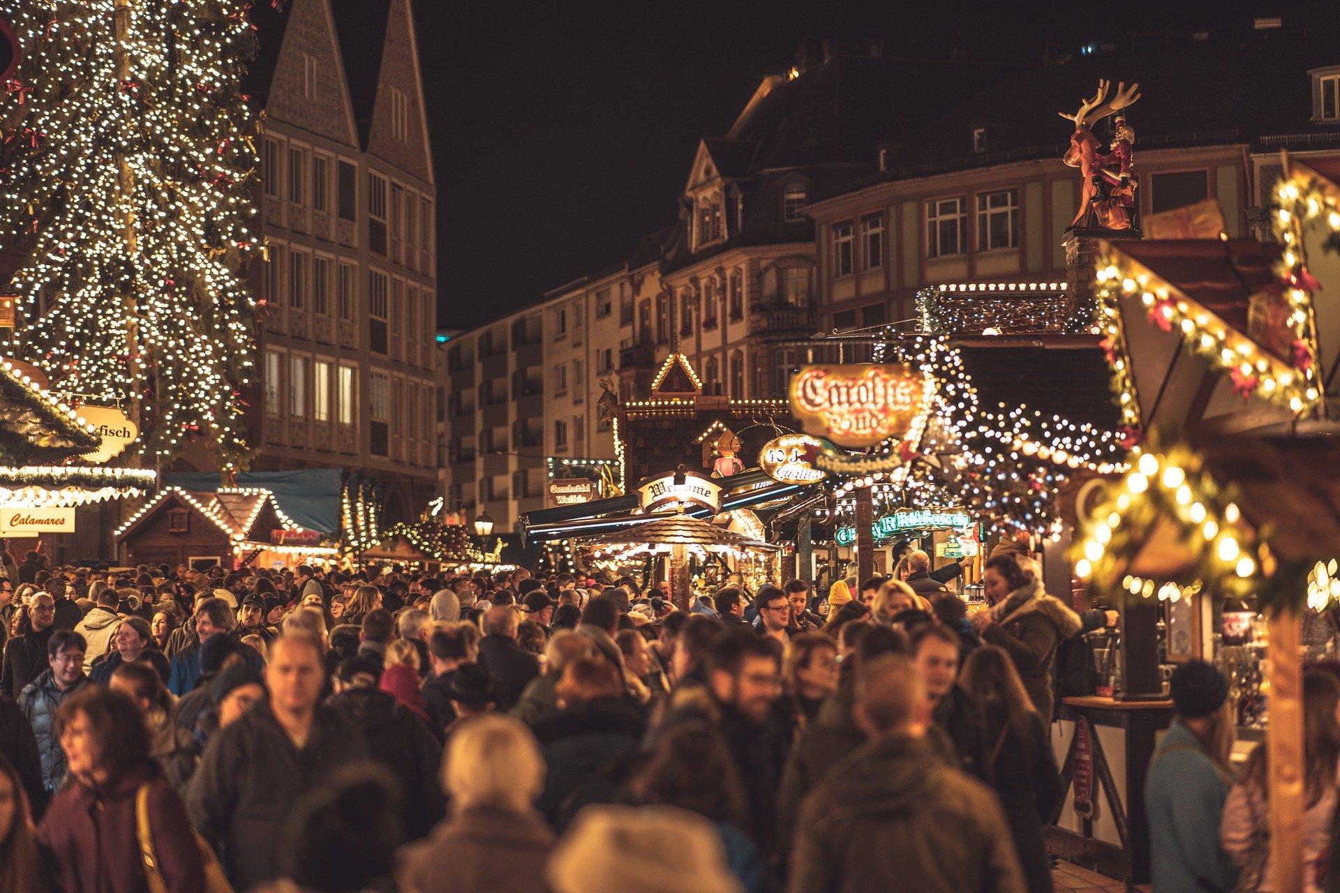 Un marché de Noël en Allemagne