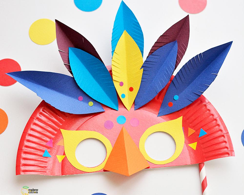 Un masque pour le carnaval - Masque oiseau a imprimer ...