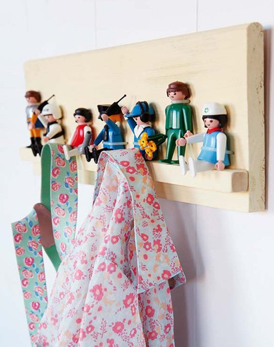 Un porte-manteau Playmobil