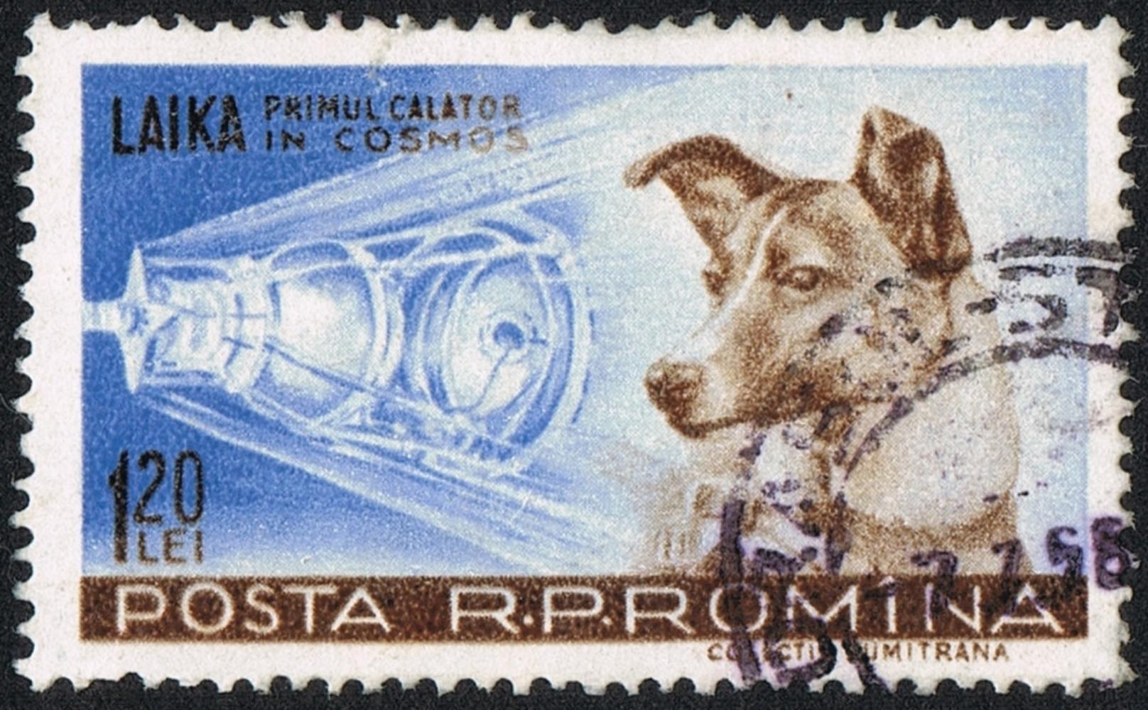 Un timbre roumain pour vanter les mérites de Laïka