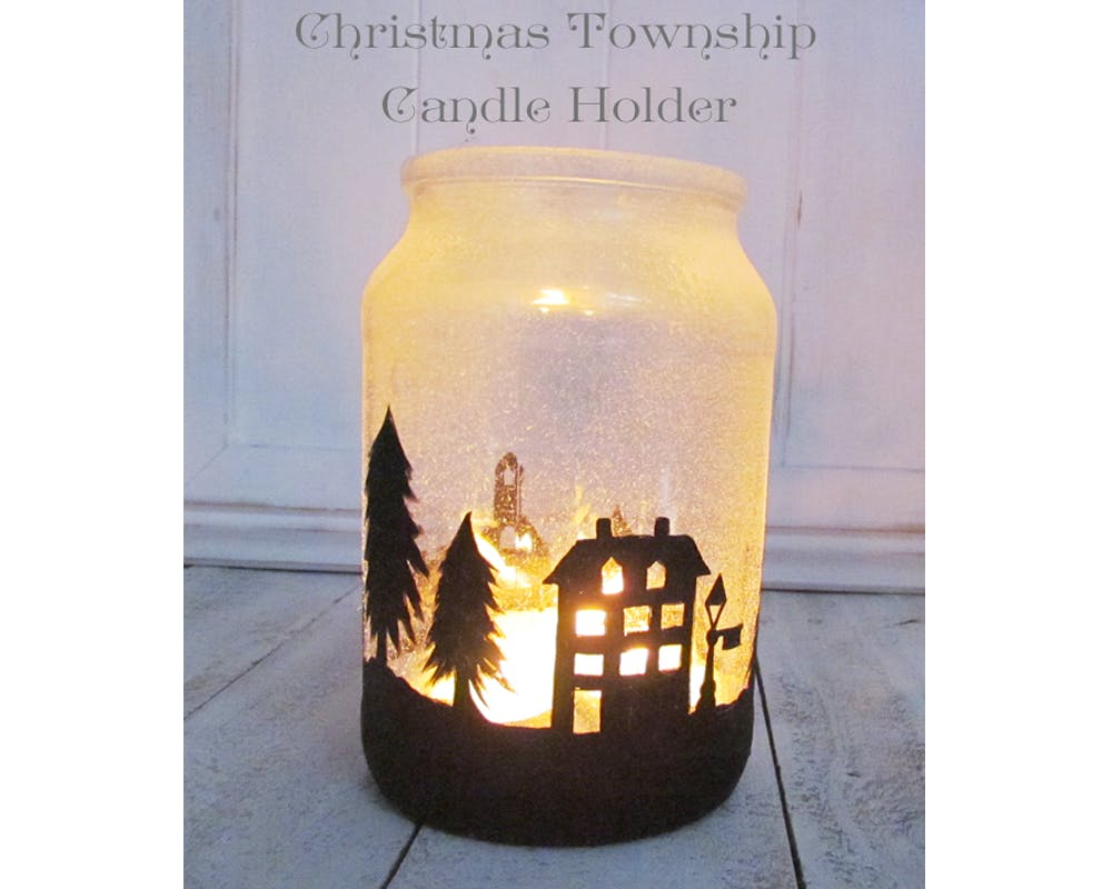 idées décorations Noël rapides simples faciles dernière minute un village d'hiver enchanté