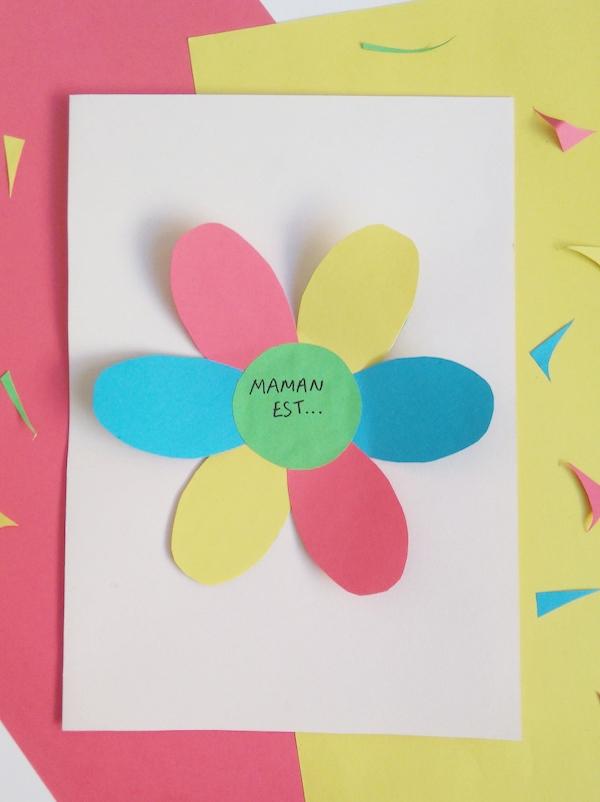 Une carte fleur surprise