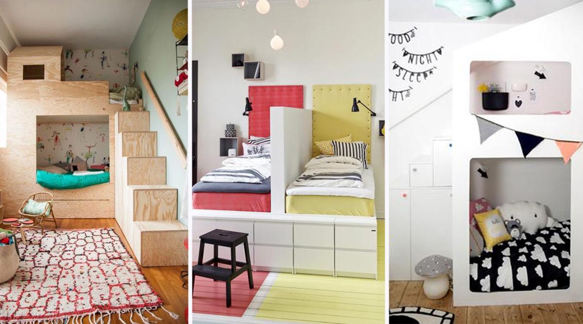 idées de séparations de chambre pour deux enfants