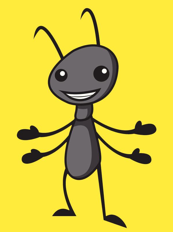 Une fourmi rouge - Fourmi rouge et tamanoir ...