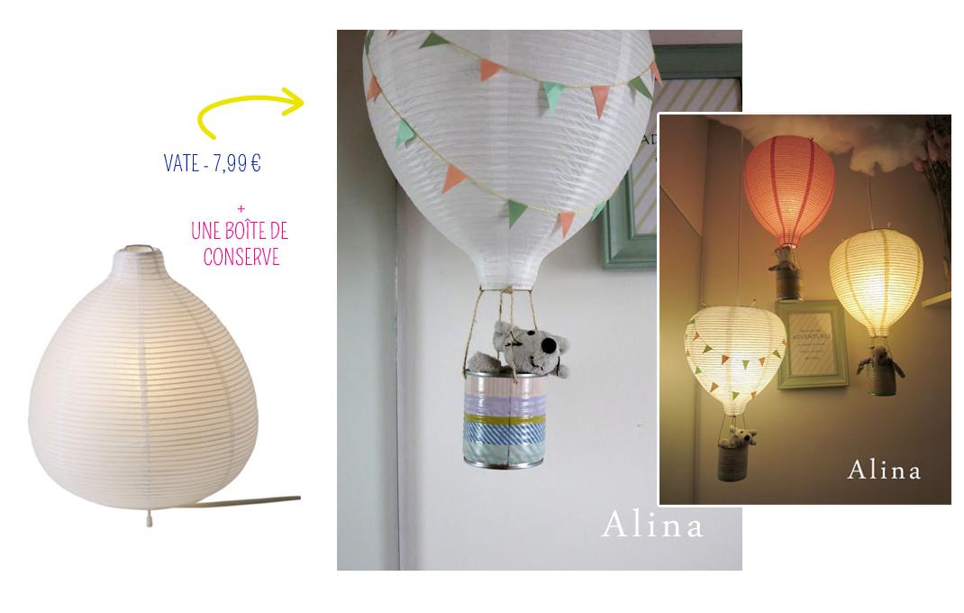 une lampe montgolfi re. Black Bedroom Furniture Sets. Home Design Ideas