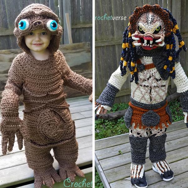 Une maman réalise d'incroyables déguisements tout en tricot pour son fils !