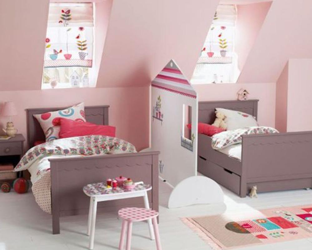 Une paroi amovible partage la chambre en deux - Saparer une chambre en deux pour enfant ...
