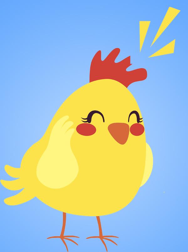 comptine Une poule sur un mur