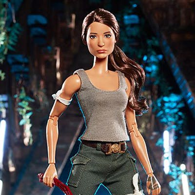 Une poupée Barbie Tomb Raider