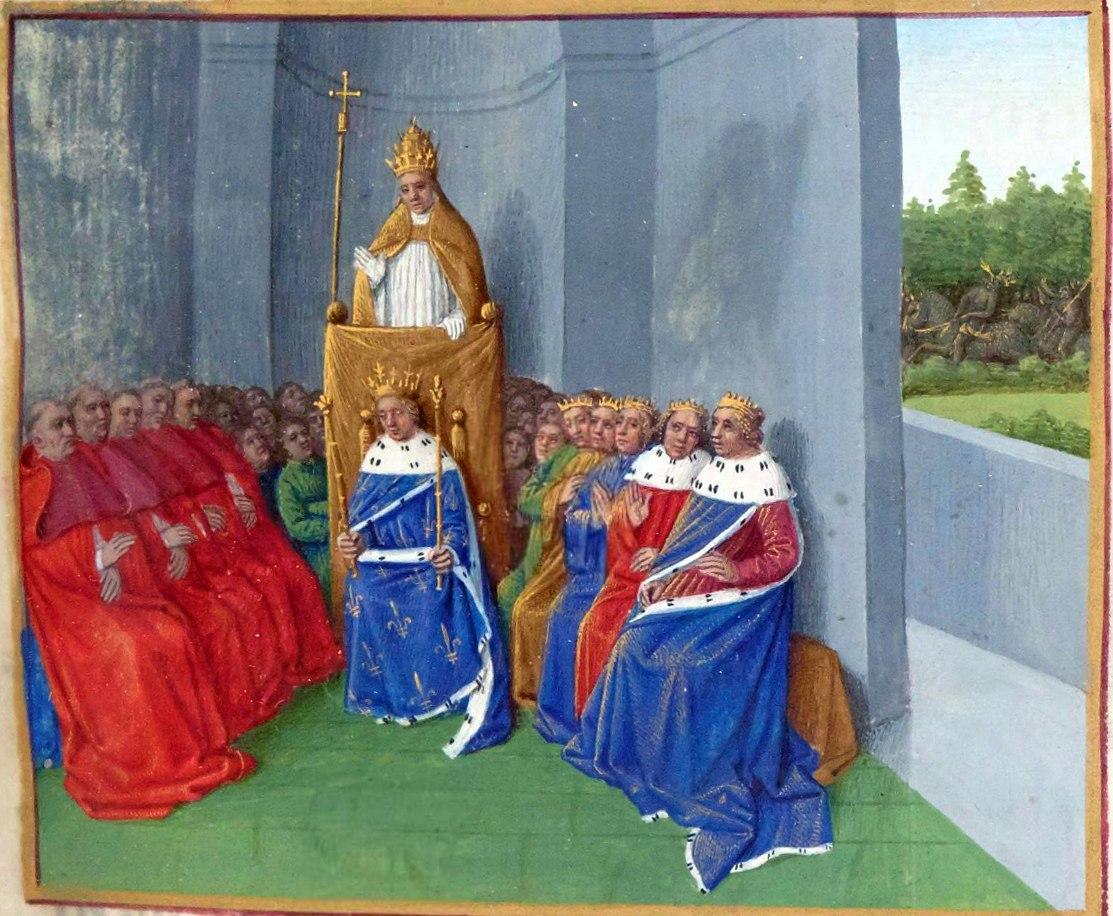 Urbain II prêchant la croisade