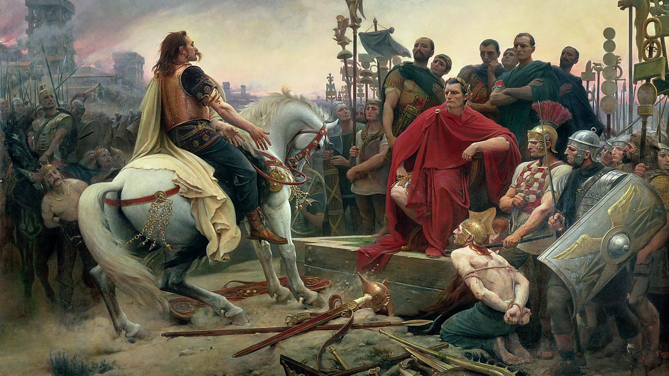 Vercingétorix face à Jules César