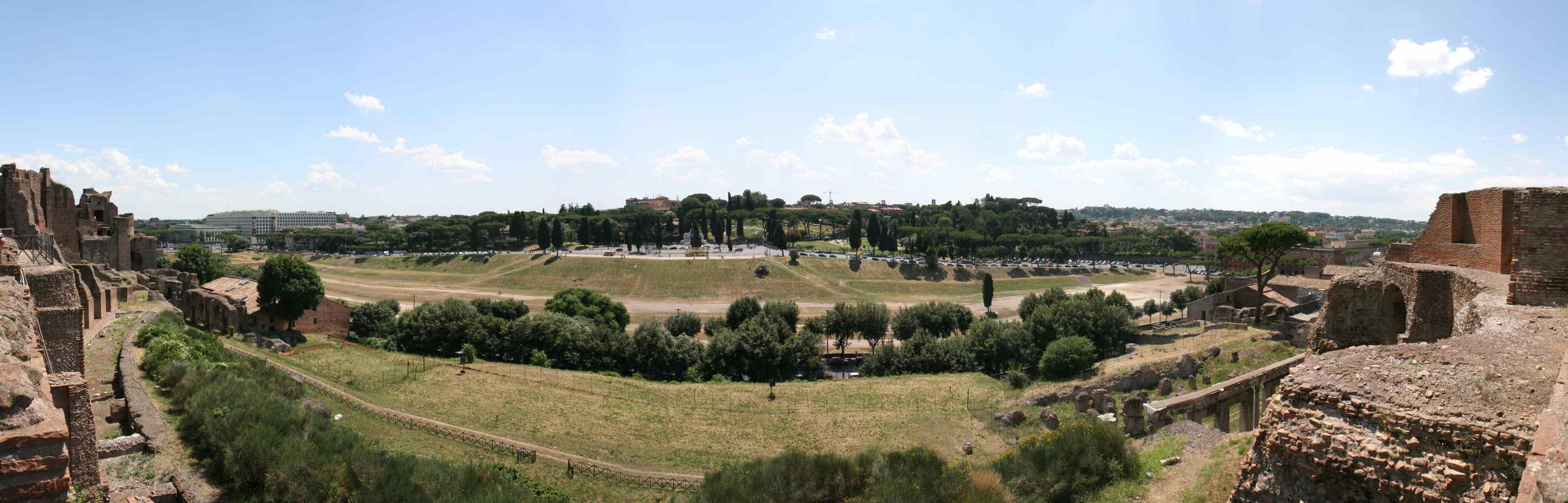 Vestiges du Circus Maximus, à Rome