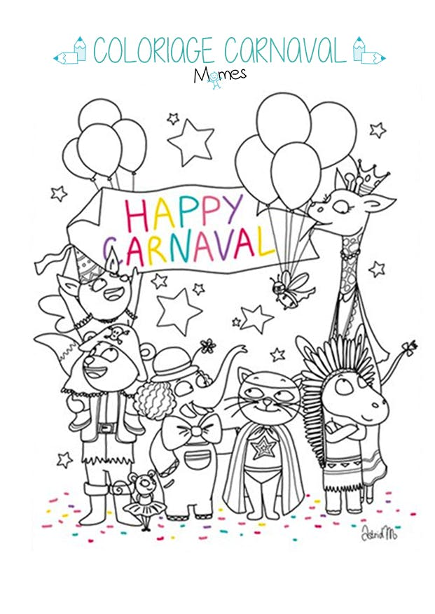 Coloriage Carnaval Momes.Vive Le Carnaval Momes Net