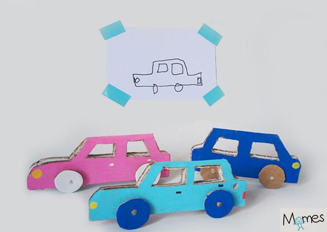 les petites voitures en carton. Black Bedroom Furniture Sets. Home Design Ideas