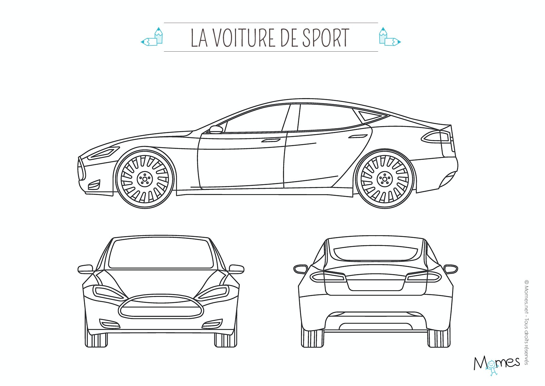 coloriage la voiture de sport. Black Bedroom Furniture Sets. Home Design Ideas
