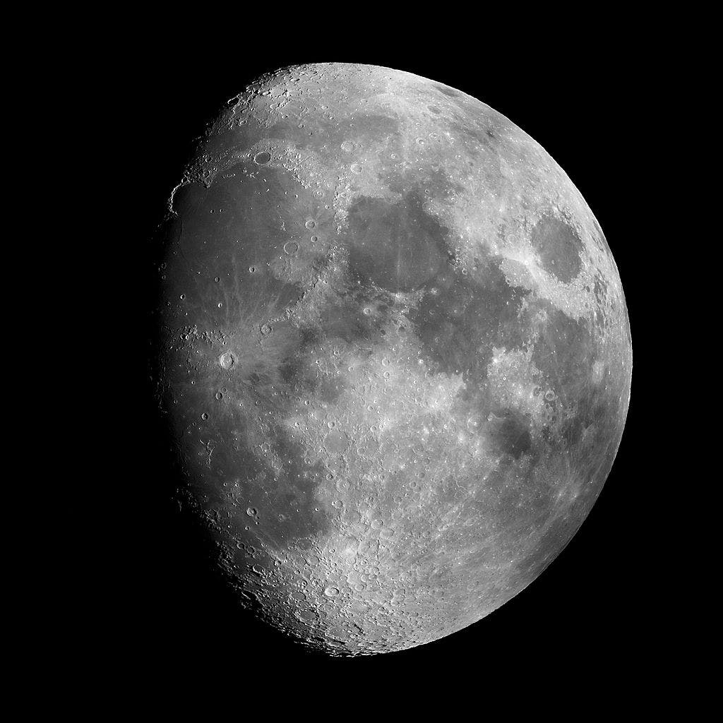 Vue de la Lune depuis la Terre