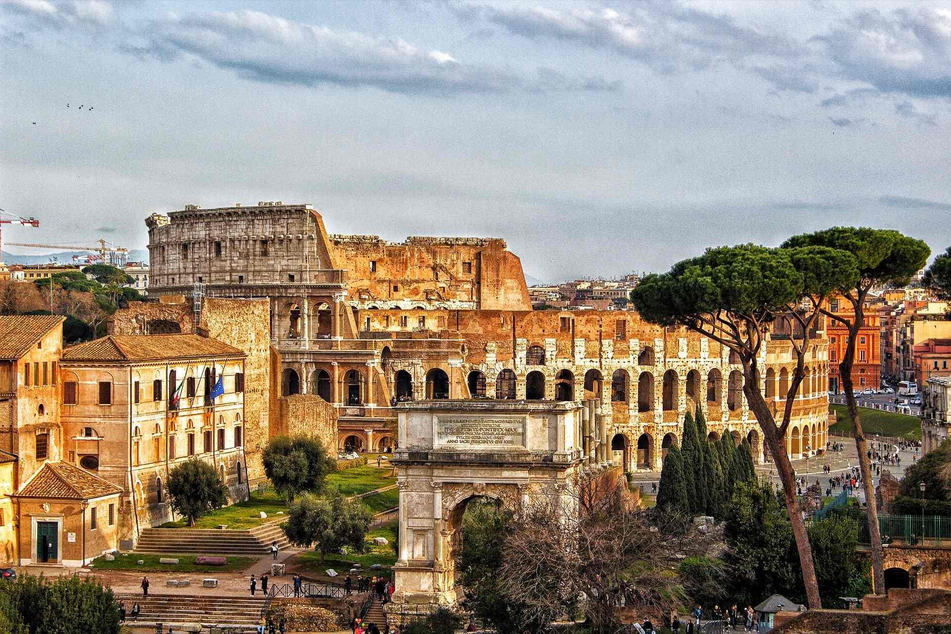 Vue du Colisée, à Rome