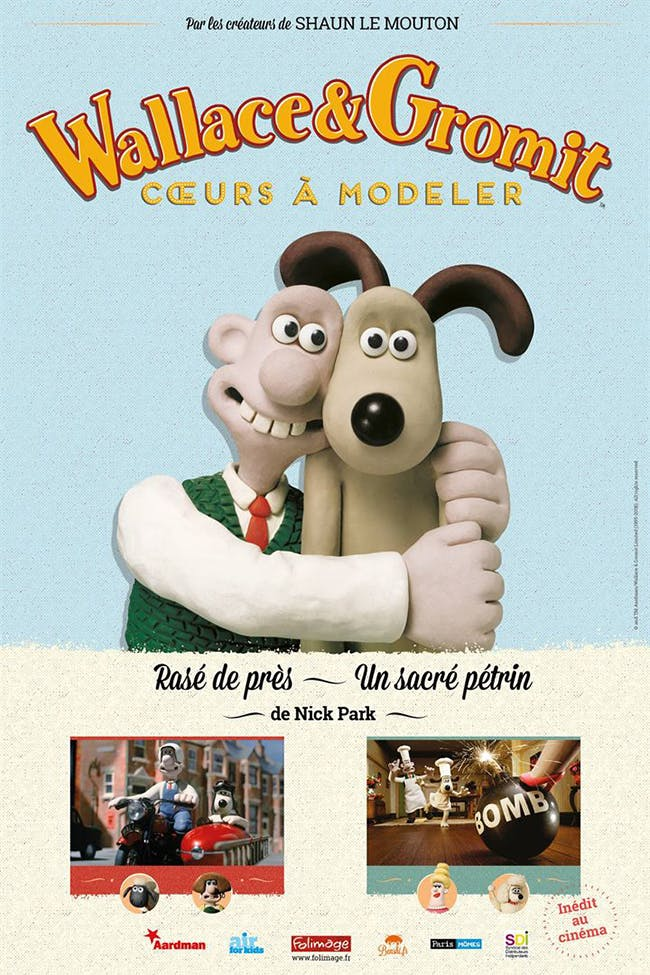 Wallace & Gromit : Cœurs à modeler - affiche