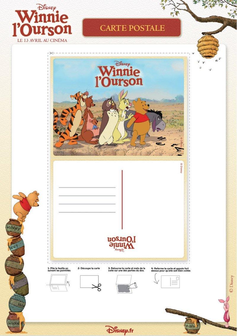 Winnie l'ourson : carte postale