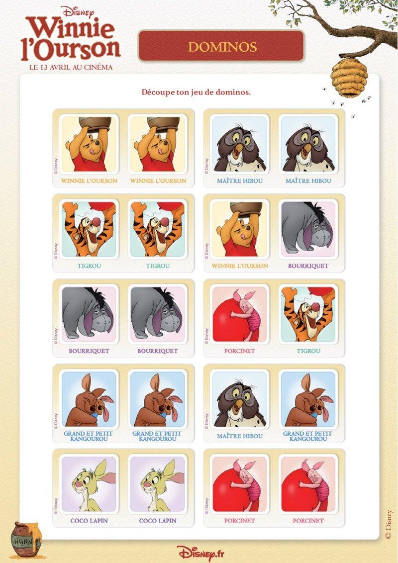 Winnie l'ourson : jeu de dominos (2)