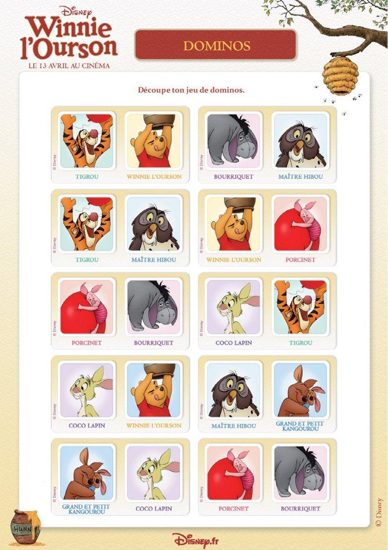 Winnie l 39 ourson jeu de dominos - Jeux de winnie l ourson gratuit ...