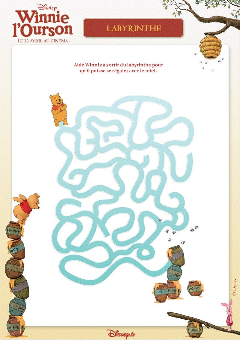Winnie l'ourson : labyrinthe 3