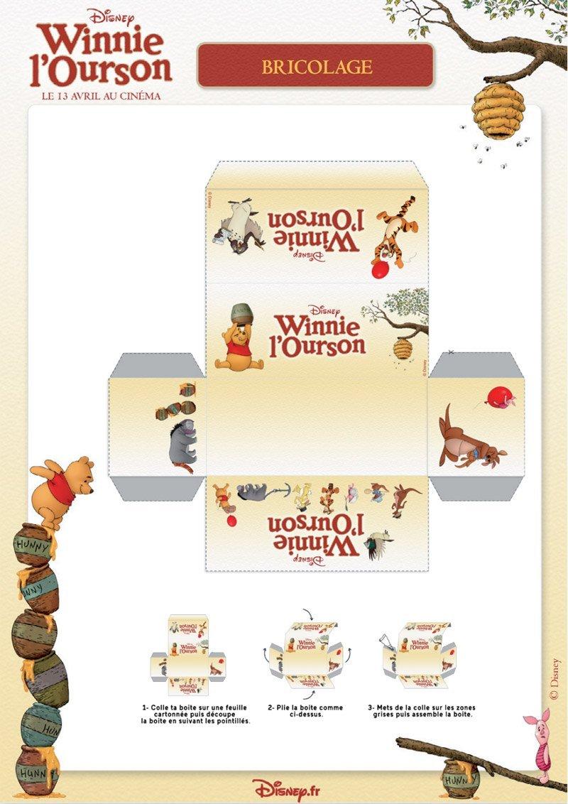 Winnie l 39 ourson petite boite imprimer - Tete winnie l ourson ...