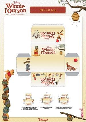 Winnie l 39 ourson petite boite imprimer - Winnie l ourson noel ...