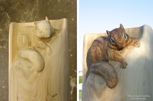 Il Transforme Des Troncs D Arbres En Sculptures D Animaux