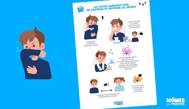 Affiche Mômes.net les gestes barrières