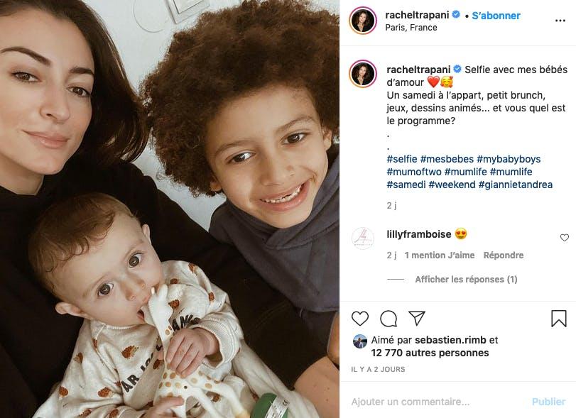 Rachel Legrain-Trapani : selfie famille