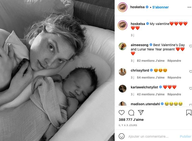Sur Instagram, Elsa Hosk a raconté son accouchement naturel