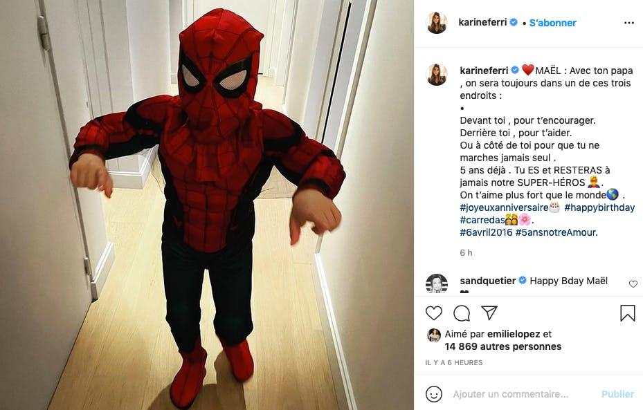 Karine Ferri fière de son super-héros