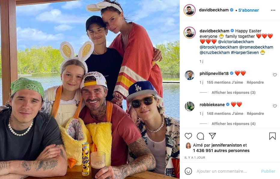 La famille Beckham = la famille Ricorée