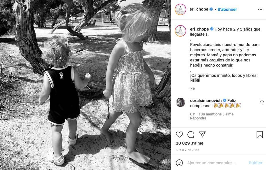 Amaro et Mia Griezmann, nés un 8 avril à deux ans d'écart...