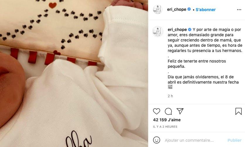 Et bienvenue à Alba Griezmann née un... 8 avril aussi !