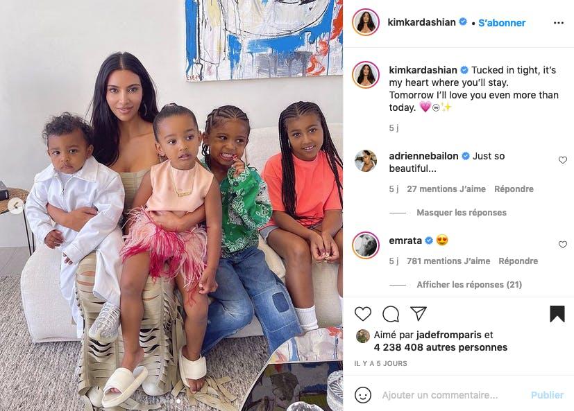 Kim Kardashian et ses quatre enfants réunis