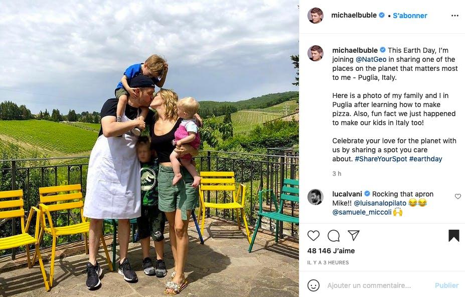 Michael Bublé : chanteur, père de famille et pizzaïolo !