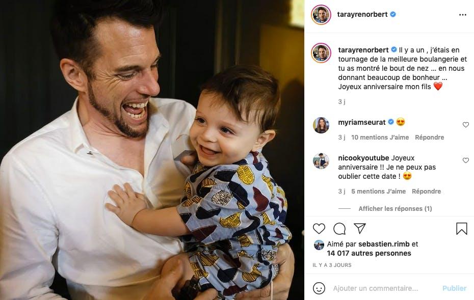 Norbert Tarayre : 1 an déjà que son petit Elydjah le comble de bonheur
