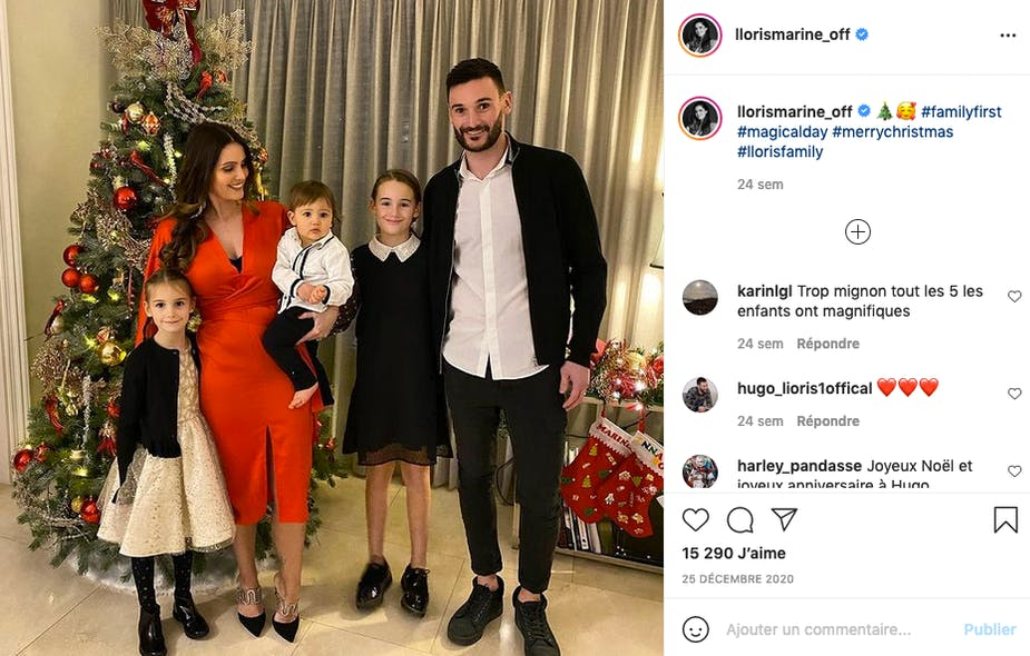 Hugo et Marine Lloris, parents de Giuliana, Anna-Rose et Leandro