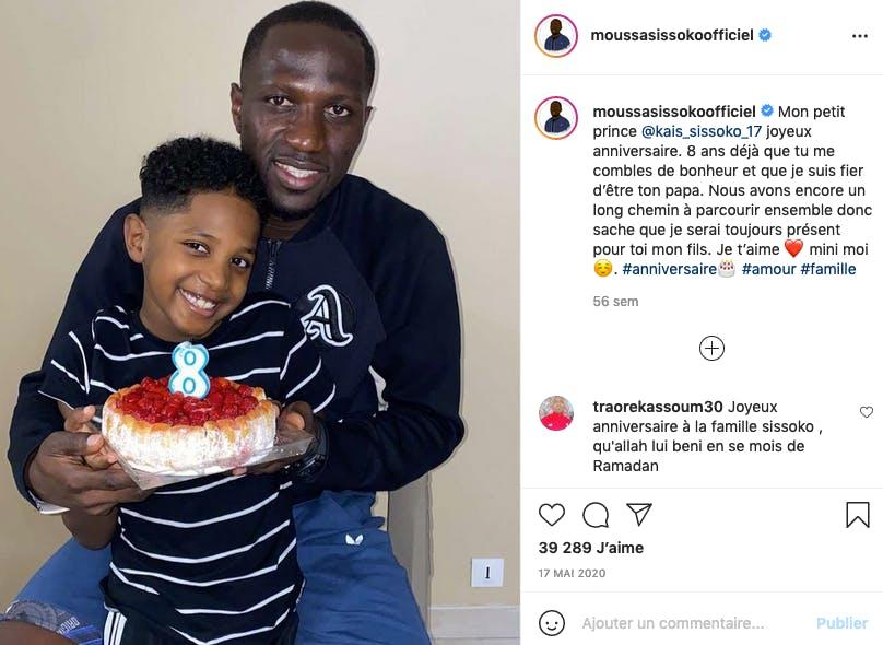 Moussa Sissoko est papa de deux enfants, Kaïs et Maliya