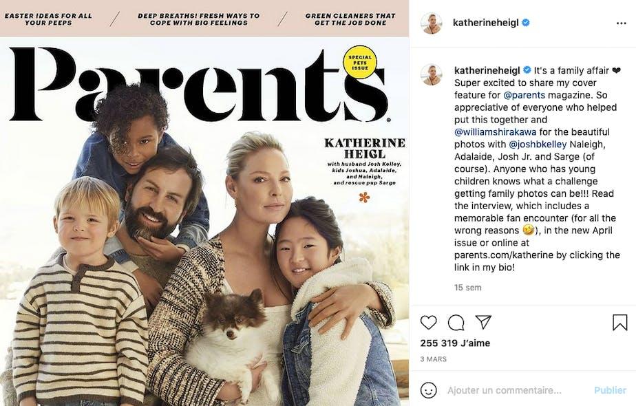 Katherine Heigl a adopté Nancy et Adalaide avant de donner naissance au petit Joshua