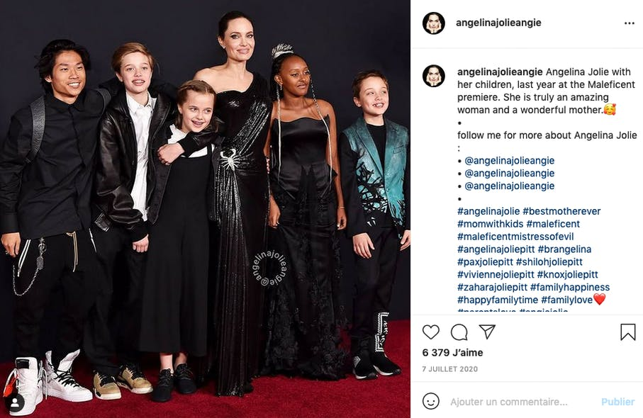 Angelina Jolie est à la tête d'une tribu de six enfants, trois adoptés, et trois biologiques